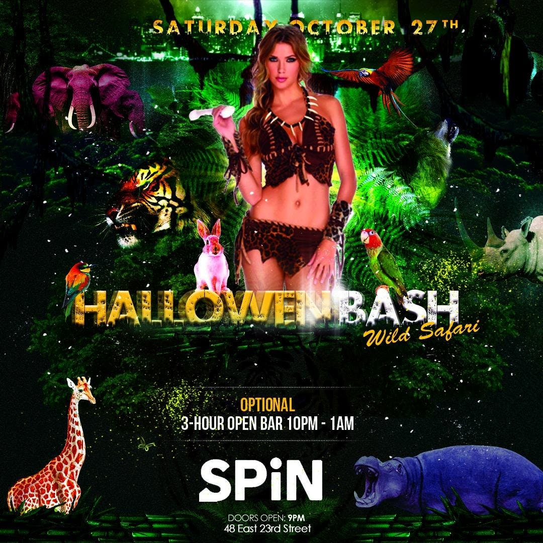 Wild Safari Halloween Bash at SPiN New York w