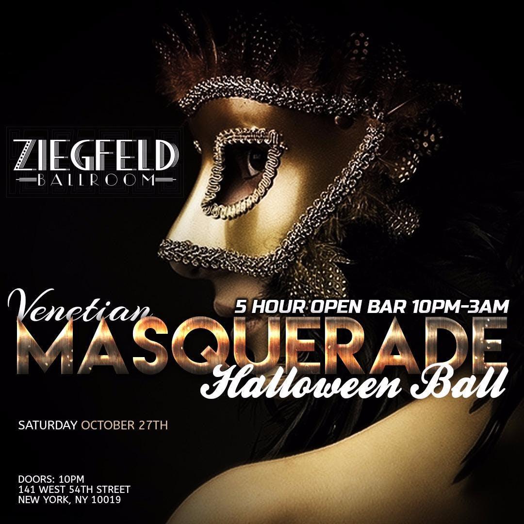 Venetian Masquerade Halloween Ball at Ziegfel