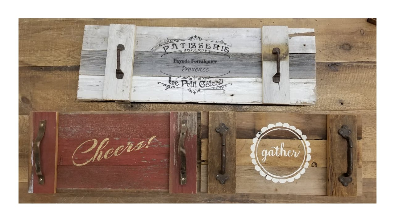 Fall Barn Wood Workshop - Plank Sign or Servi