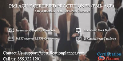 PMI Agile Certified Practitioner (PMI-ACP) 3 Days Classroom in Charleston