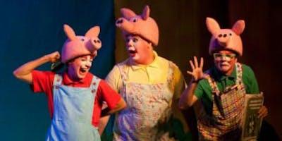 """Desconto! \""""Os Três Porquinhos  - O Retorno do Lobo Mau\"""" no Teatro Folha"""