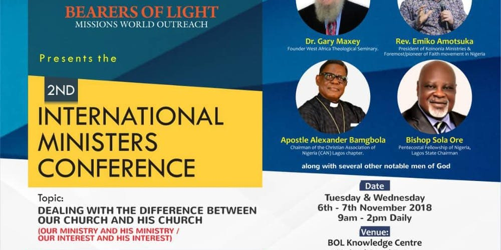 BOL 2nd International Ministers Conference Tickets, Tue, Nov