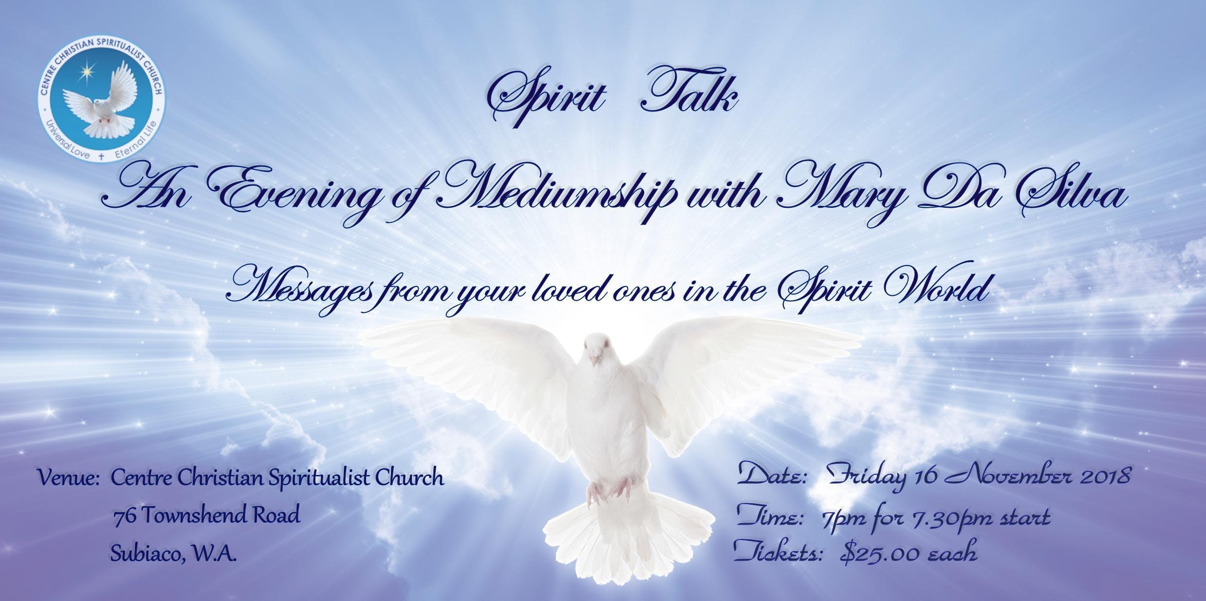 Spirit Talk, An Evening of Mediumship with Ma