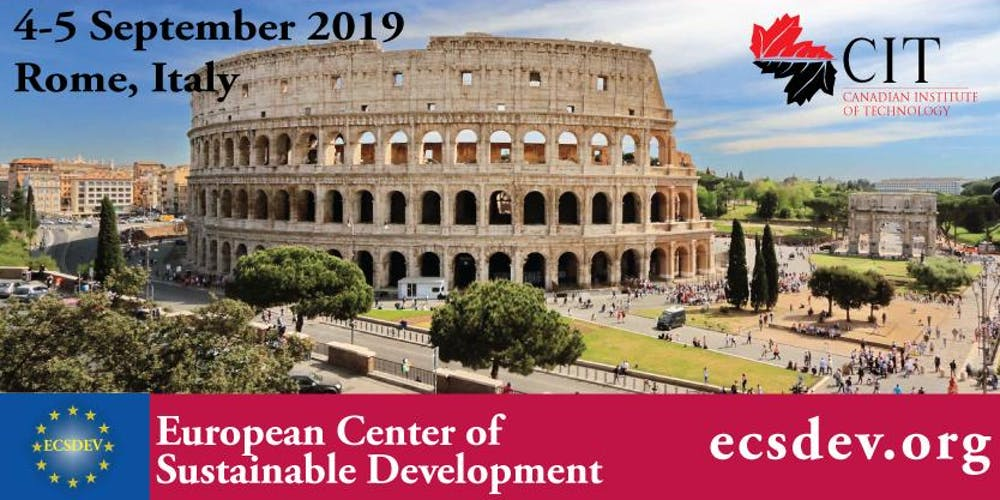 Risultati immagini per icsd 2019 : 7th international conference on sustainable development,4 - 5 september 2019 rome, italy