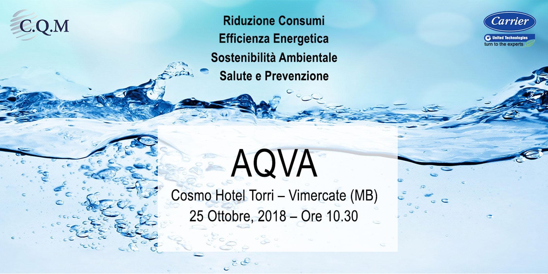 AQVA   Carrier: soluzioni chemical free CQM