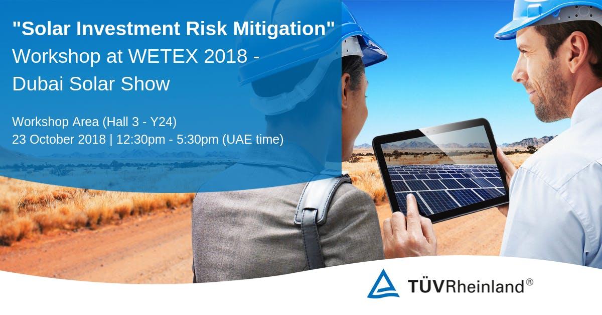TÜV Rheinland Solar Investment Risk Mitigatio