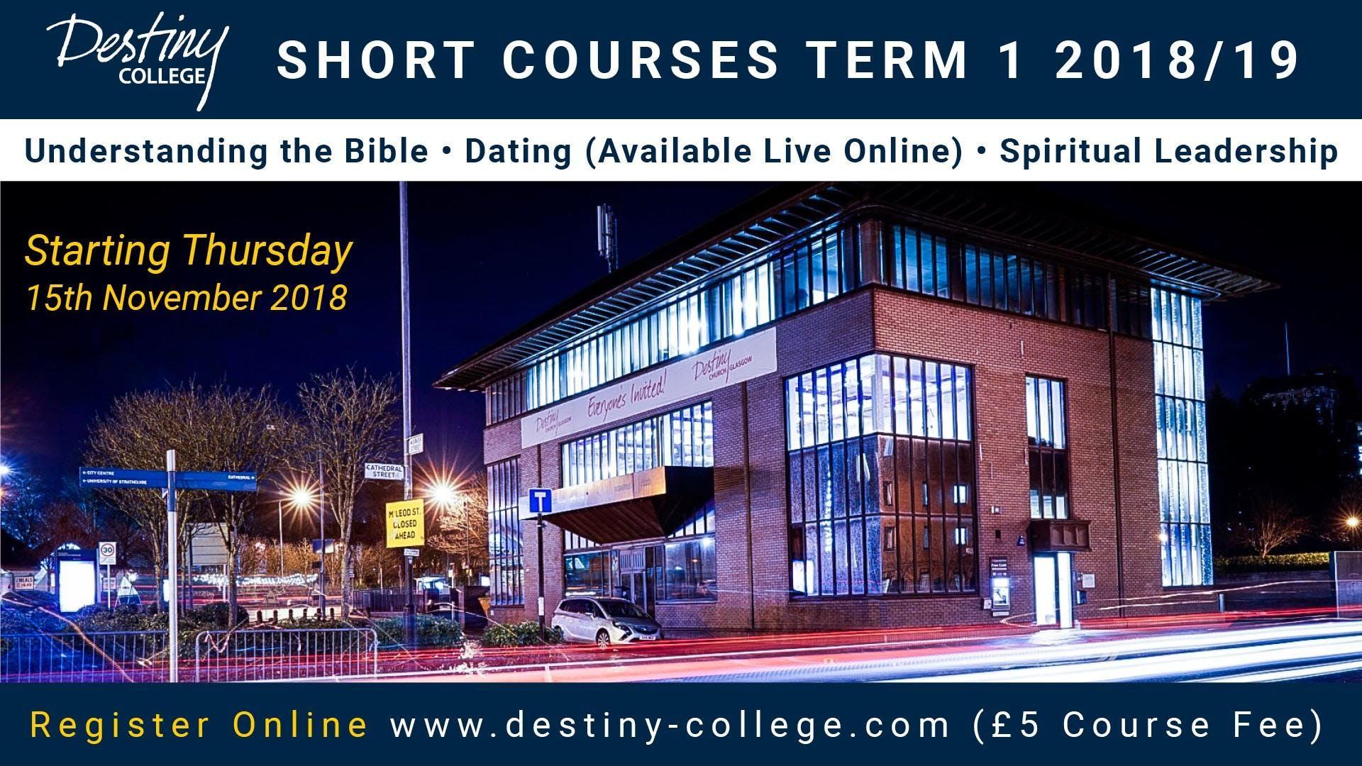 Destiny College: Short Courses Term 1 2018/19