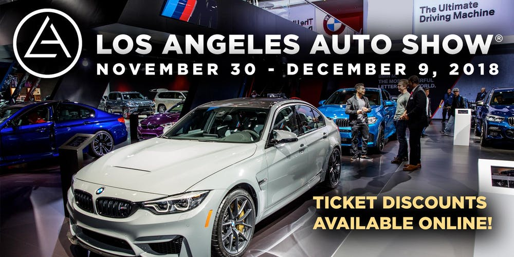 LA Auto Show Tickets LA Eventbrite - Car show tickets 2018