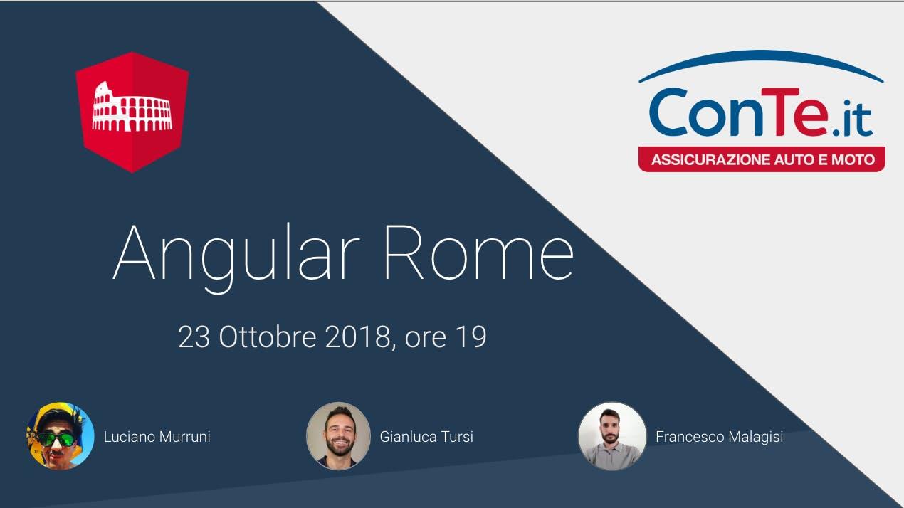Angular Rome - MeetUp: RxJS, UX Design & PWA