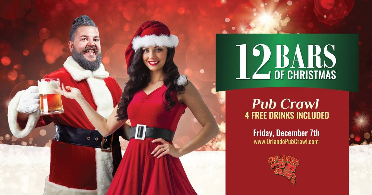 the 12 bars of christmas pub crawlorlando