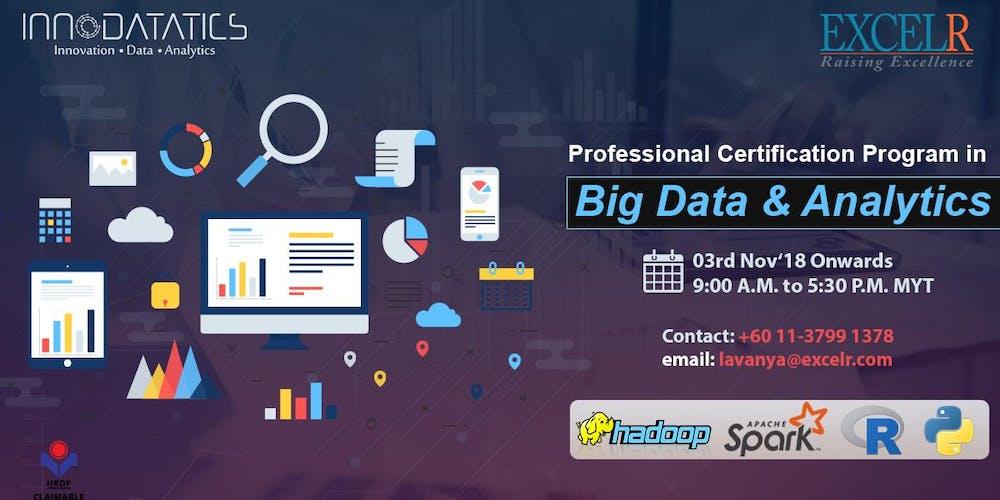 Professional Certification Program In Big Data Analytics Tickets