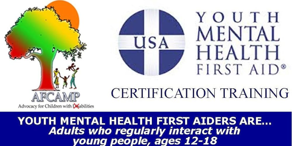 AFCAMP Youth Mental Health First Aid Certification Training ...