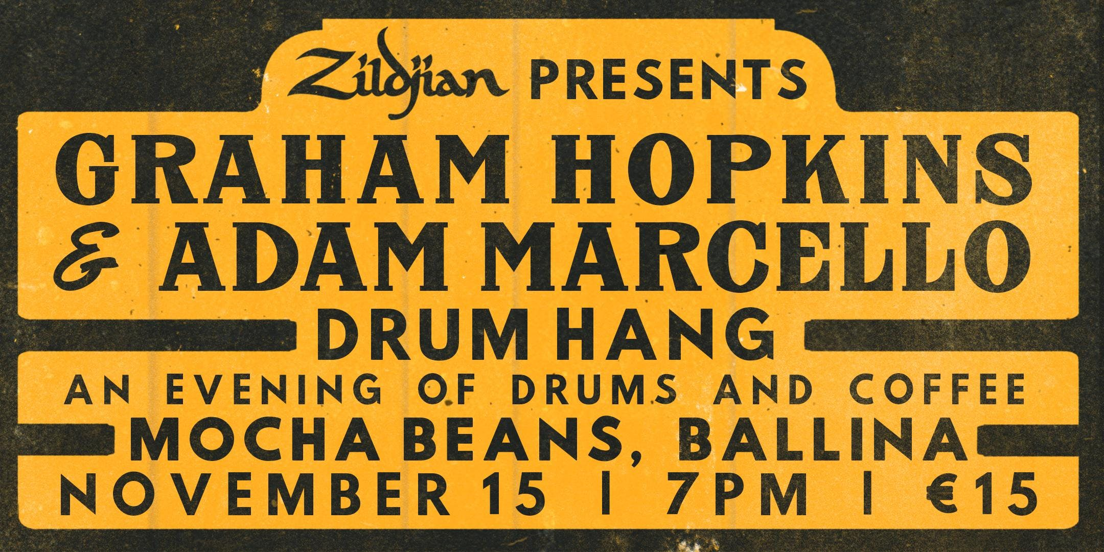 Graham Hopkins & Adam Marcello Drum Hang - Ballina