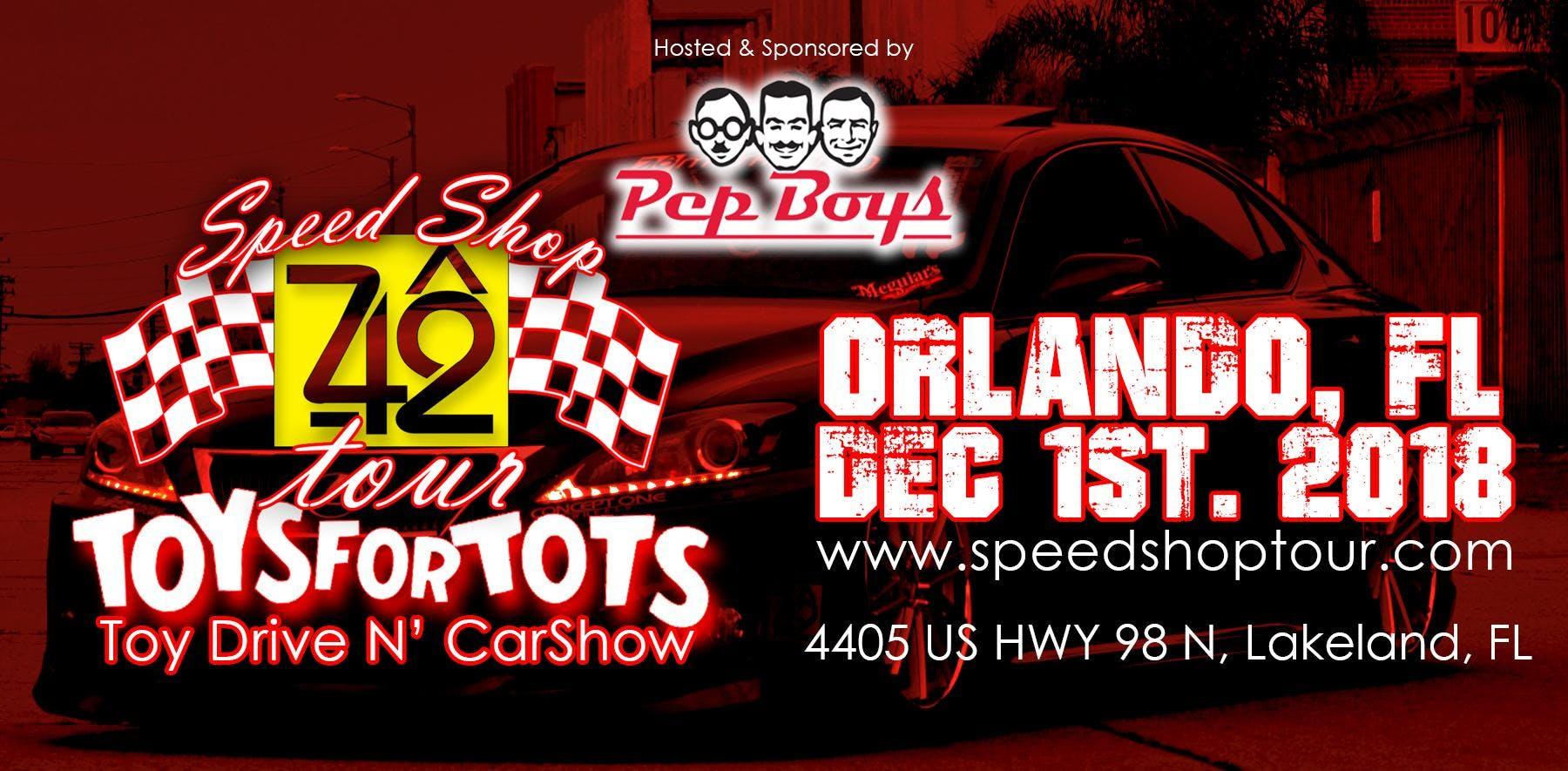 The Speed Shop Tour Car Show Toys For Tots Orlando FL DEC - Car show orlando fl