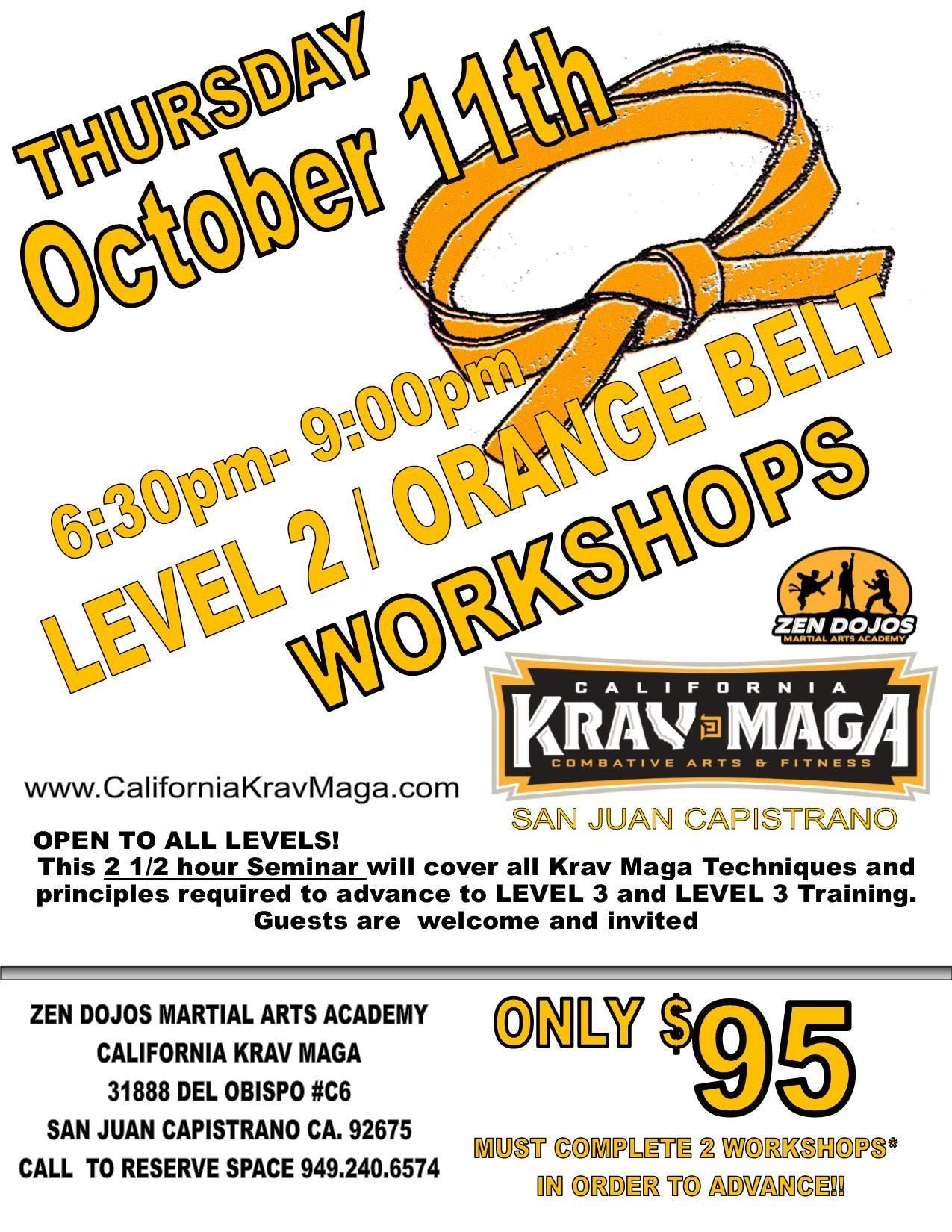 Krav Maga Orange Belt Workshop 18 Oct 2018