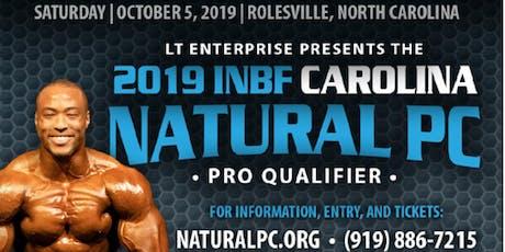 INBF CAROLINA NATURAL Physique Championship tickets