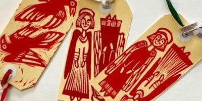 Lino-Print Gift Tags Workshop