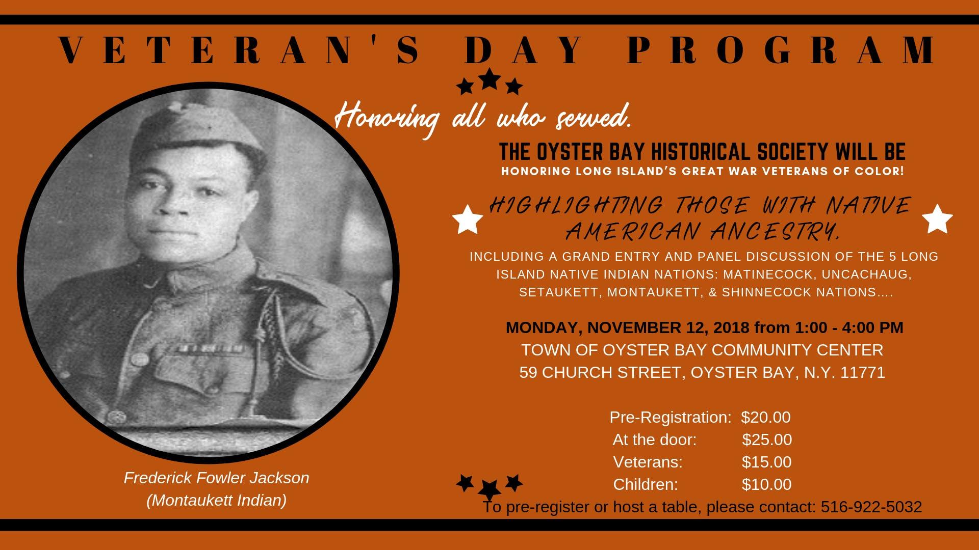 Honoring LI Native American Veterans of the Great War at 59