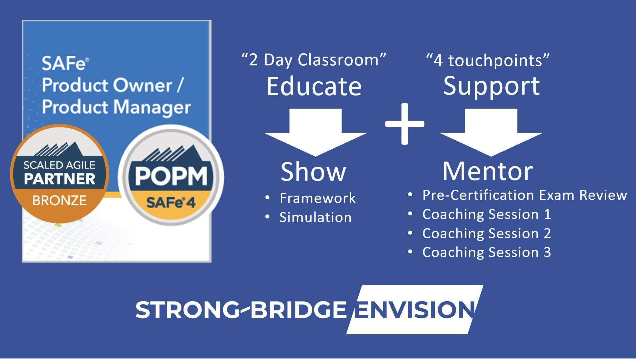 Safe 45 Product Ownerproduct Manager Popm Training With