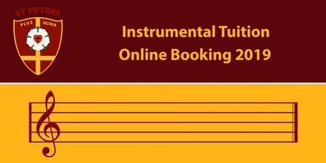Instrumental Tuition Online Booking 2019 Tickets