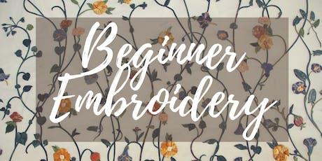Beginner Embroidery Class tickets