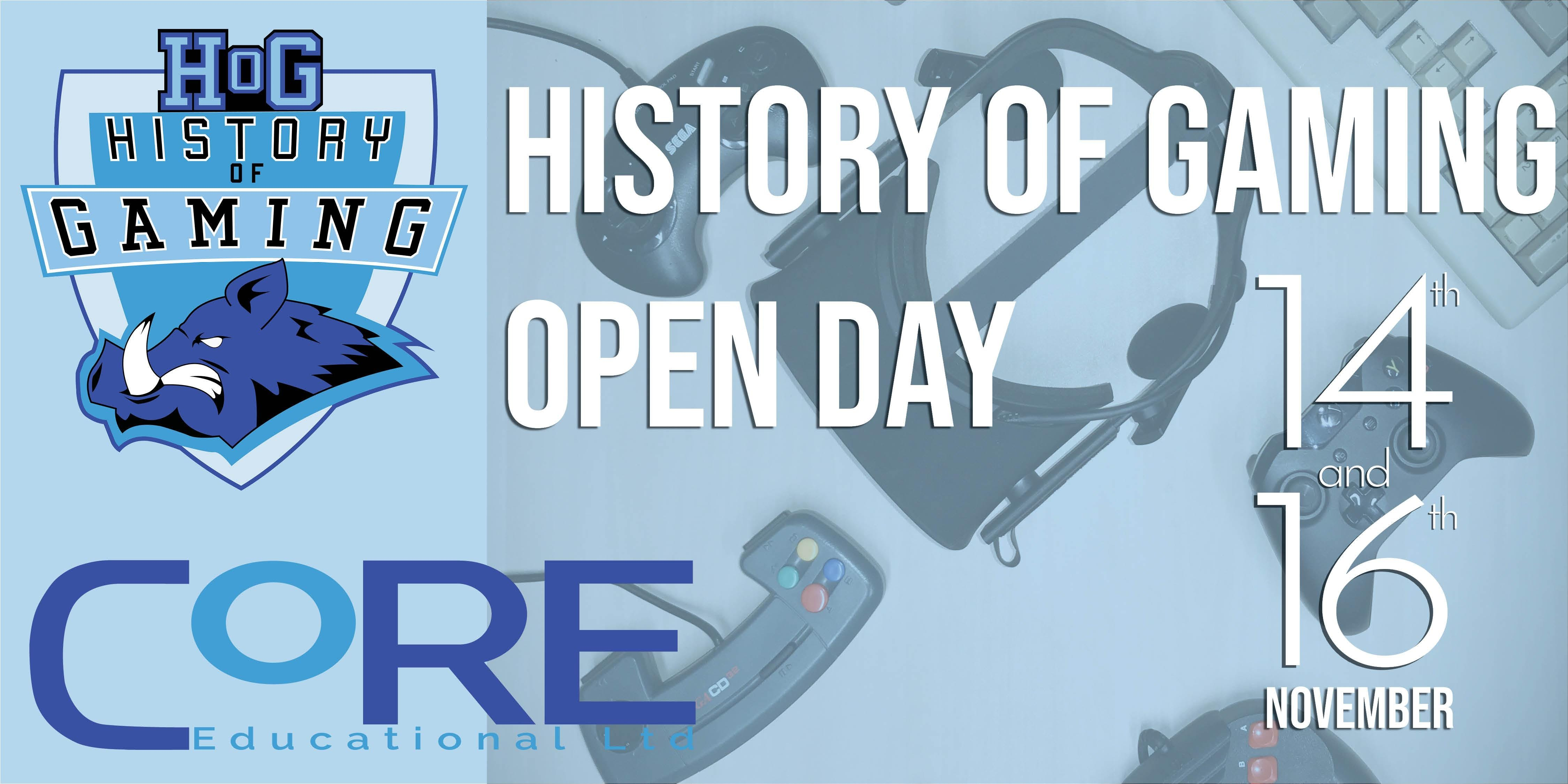 History of Gaming Open Day