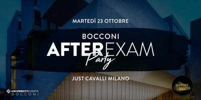 Bocconi After Exams Party at Just Cavalli
