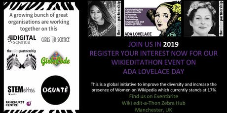 Wiki Edit-a-Thon Zebra Hub HQ 2019 - The Pankhurst Centre tickets