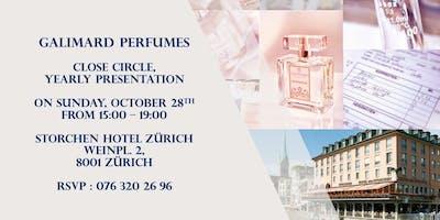 GALIMARD Perfumes close circle,  yearly  presentation