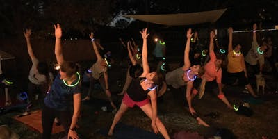 Light Up Night Goat Yoga in Coppell, TX!