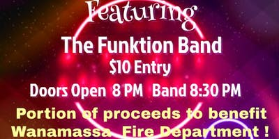 80s Night with The Funktion Band - Benefit For Wanamassa Fire Department