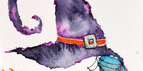 Wine and Watercolors with Chris Blevins - Witch Hat and Broom tickets