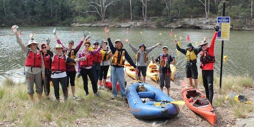 Kayaking Bushcare Volunteer Workday at Lake Parramatta - 27 October 2019