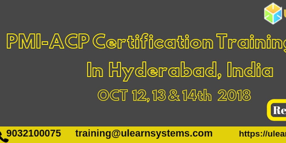 Pmi Acp Certification Training Course In Hyderabad India Tickets