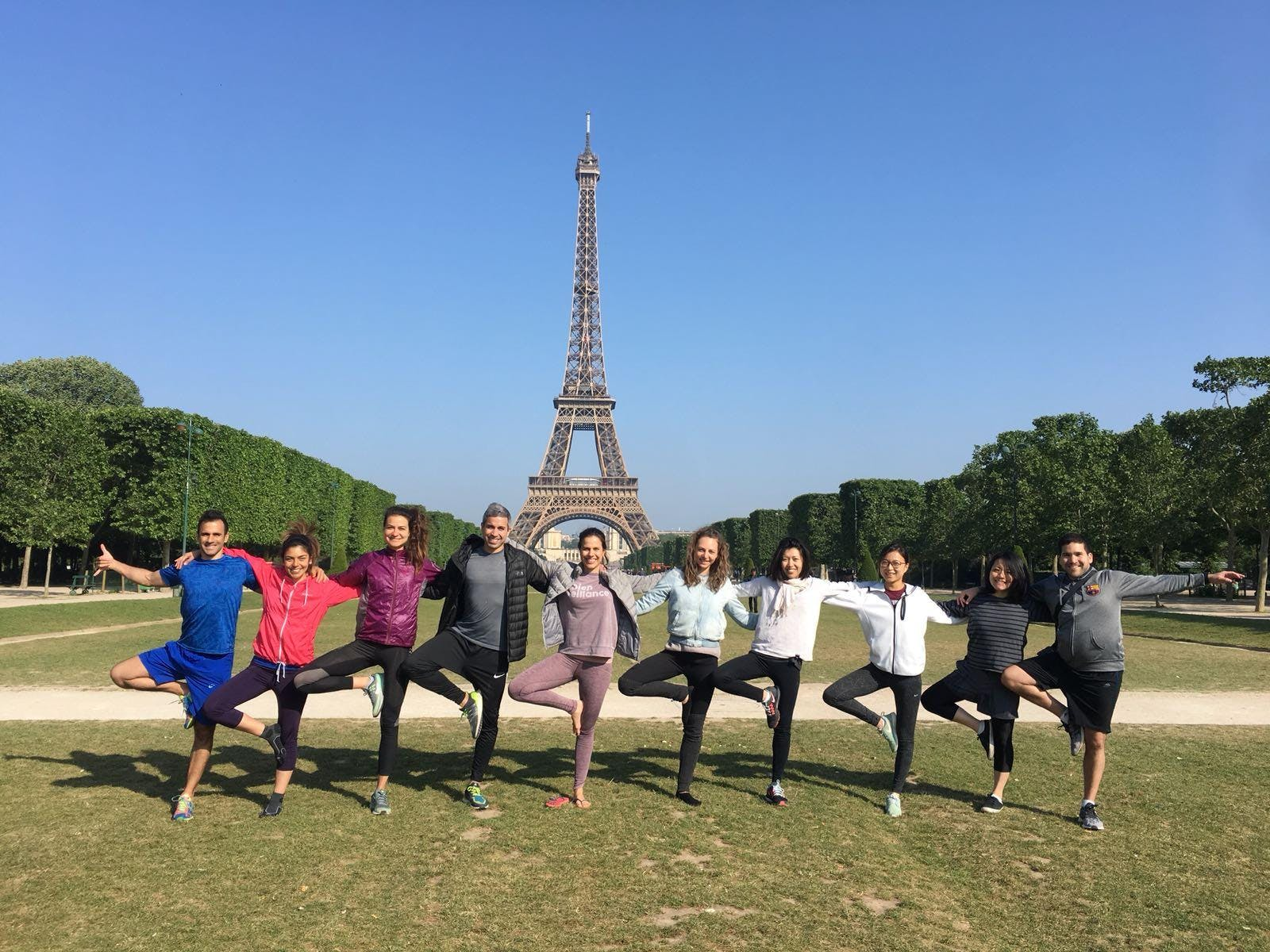 Yoga in Front of the Eiffel Tower
