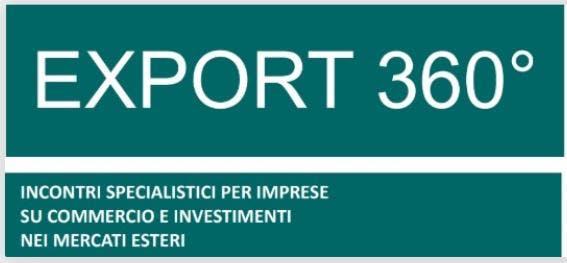 Export 360° - Incontri specialistici per impr