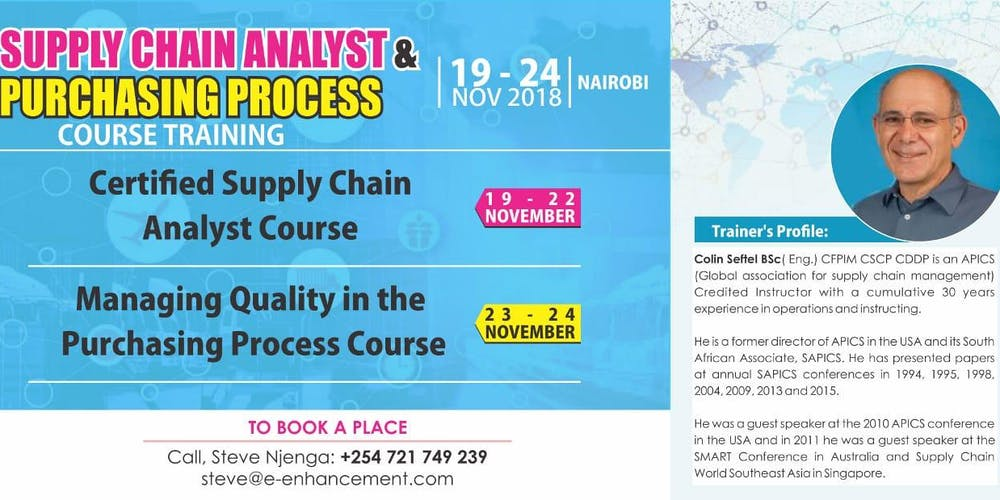 Certified Supply Chain Analyst Quality Mngt In Procurement