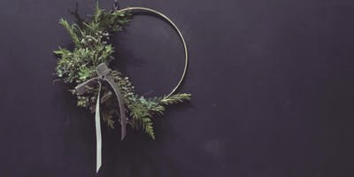 Modern Wreath Making at Crimson & Clover