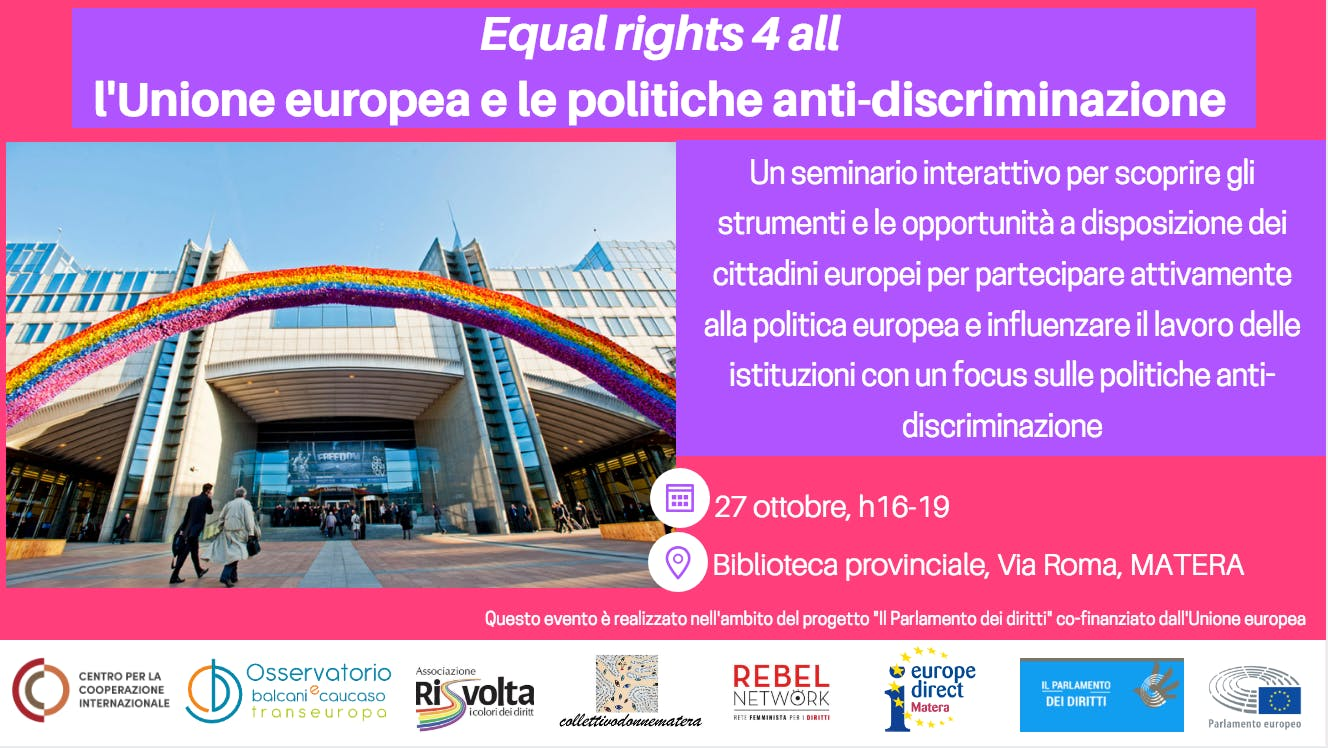 Seminario Equal rights 4 all: l'Unione europea e le politiche anti-discriminazione