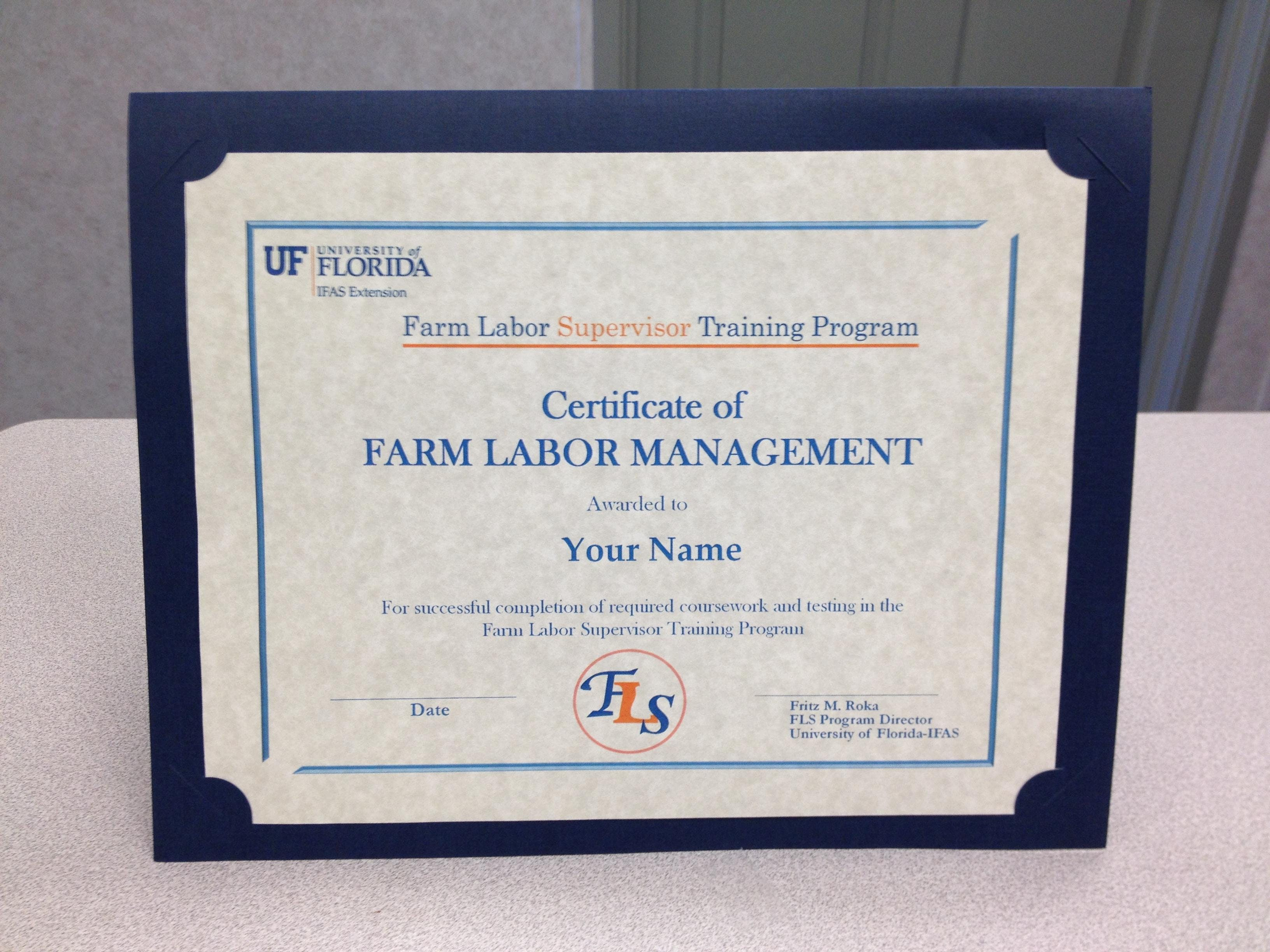 Ufifas Farm Labor Supervisor Training Balm October 23rd And 24th