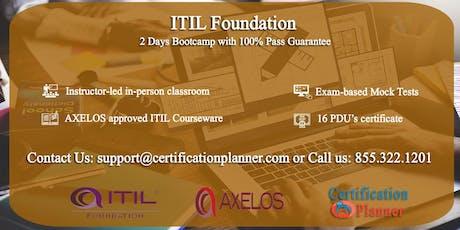 ITIL Foundation 2 Days Classroom in Auburn tickets