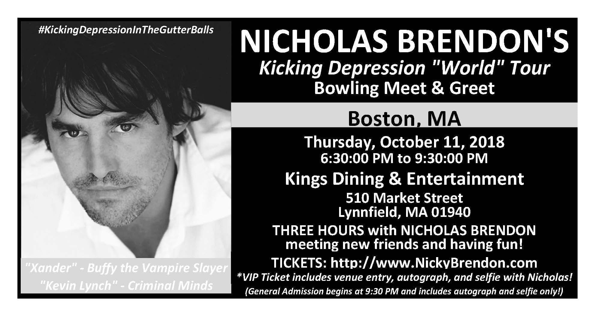 Nicholas Brendon Buffy Criminal Minds Meet Greet Boston 11