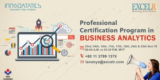 Professional Certification Program in Business Analytics Tickets ...
