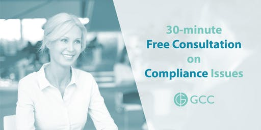 GCC 30-minute Free Consultation on Compliance Issues
