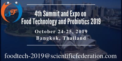 4th World Summit & Expo on Food Technology and Pro