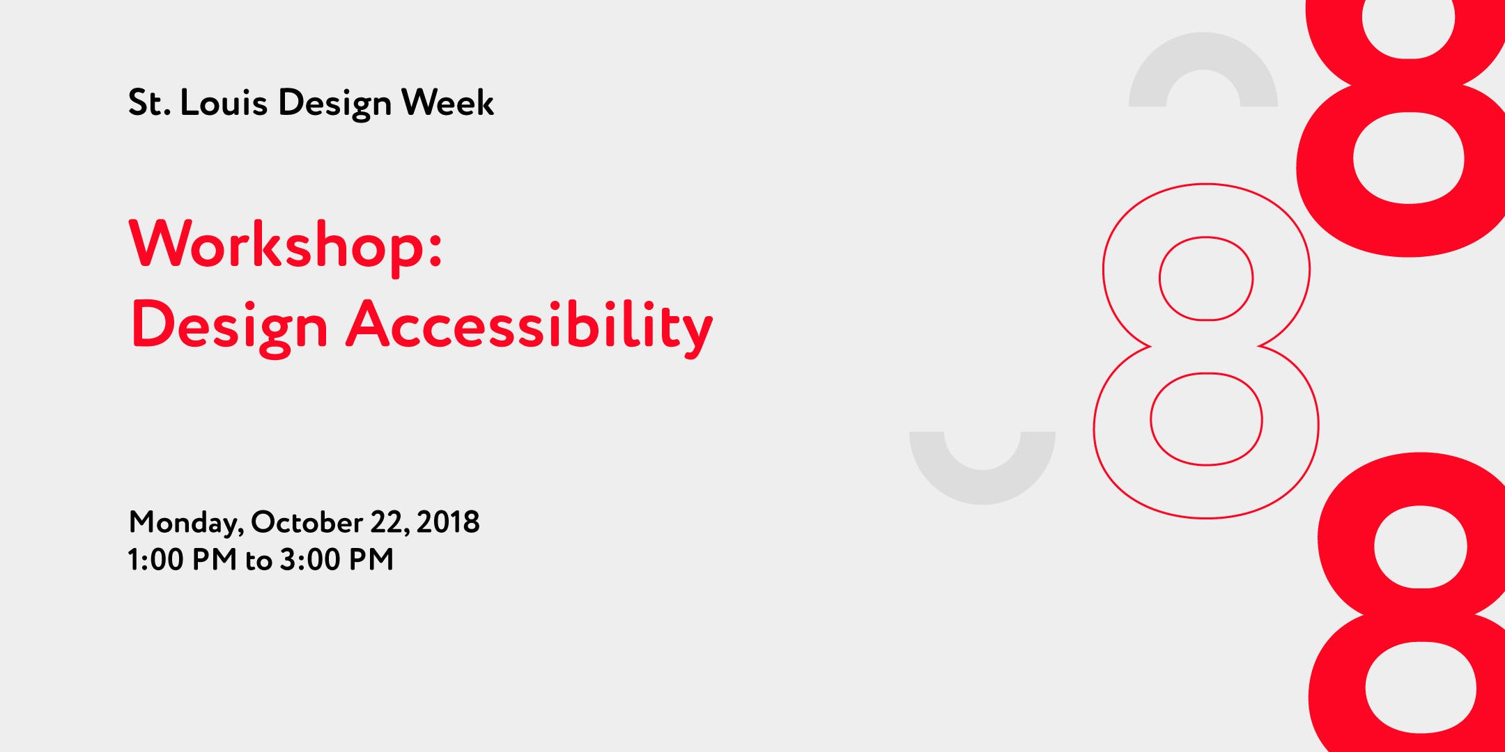 Workshop Design Accessibility 22 Oct 2018
