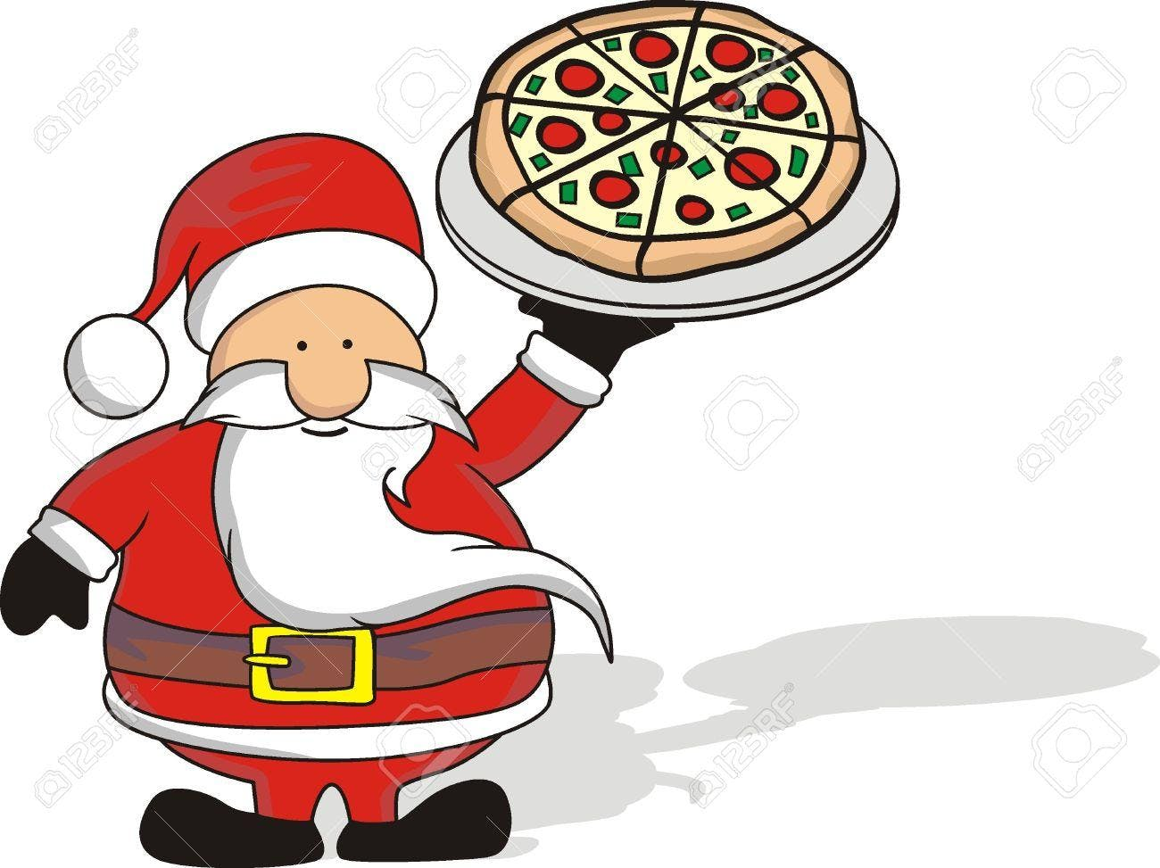 Pizza Party With Santa