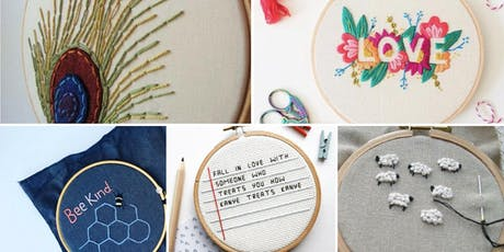 Embroidery for Beginners - Make Your Own Wall Hanging tickets