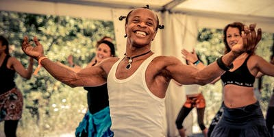African Dance Workshop with Merlin Nyakam - Live drumming