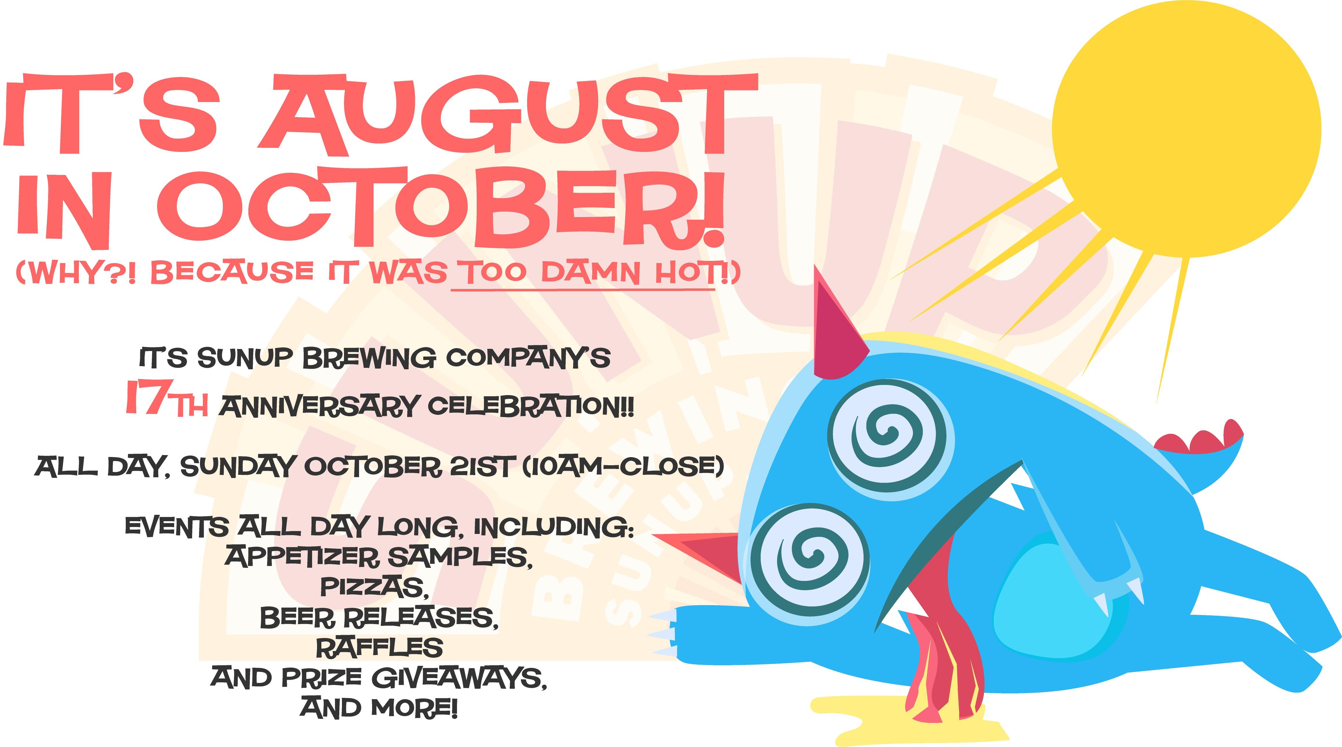 SunUp Brewing Company 17th Anniversary Celebration!
